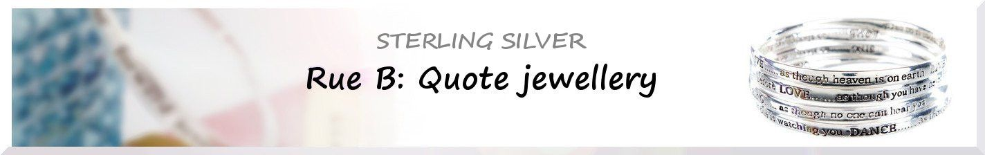 Quote Rings - Sterling Silver