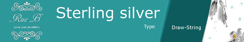 Draw String Cord Bracelets - Sterling Silver
