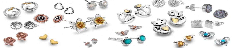 Stud Earrings - Sterling Silver