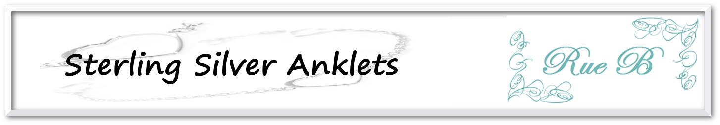 Sterling Silver: Anklets