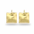 Danon jewellery gold Square Drop Earrings