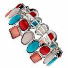 Sale: Red Tone Multi-Colour Bracelet