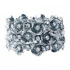 fashion jewellery Silver and Crystal Detail Floral Cuff