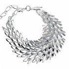 Shiny Silver Leaf Design Bracelet