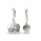 Silver Glazed Pewter Hoop Earrings