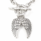 Danon jewelery Chunky Danon Necklace with Double Angel Wing Pendant