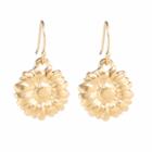 Danon jeweller: Shiney Gold Daisy flower drop Earrings