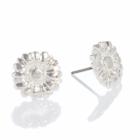 Danon jeweller: Shiney Silver Daisy flower stud Earrings