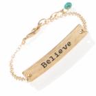 Danon gold believe up turquiose charm  Bracelet