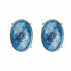 Blue and Silver Stud Earrings