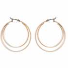 Fashion Jewellery Favourites: Double Hoop Earrings with Click-Top Fastening in Shiny Rose Gold Finish