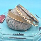 x SALE Fashion Jewellery: Earth Tone Bangle Set (S86)