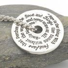 "Quote Jewellery: Hope Necklace in Silver - Emily Dickinson ""Hope is the thing wit"