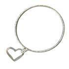 Danon Jewellery: Bangle with Adorable Heart Outline Charm