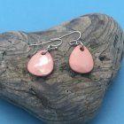 SALE Fashion Jewellery: Pink Tone Teardrop Earrings (S230)
