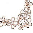 Sparkle Fashion Jewellery Collection: Chunky Rose Gold and Crystal Daisy Statement Necklace (YK21)