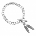 * Danon Jewellery: Chunky Chain Bracelet with Two Lovely Feather Charms