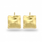 SALE Last Pair: Danon Jewellery: Shiny Gold Square Drop Earrings (25mm)
