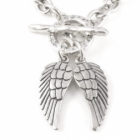 *  Danon jewellery: Chunky Danon Necklace with Double Angel Wing Pendant