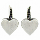 * Danon Jewellery: Statement Chunky Loveheart Earrings with leverach Hooks (20mm x 12mm) (DS118)