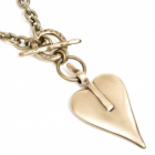 NL: * Classic Danon Jewellery: Chunky Chain Necklace Wih Large Signature Gold Heart Pendant