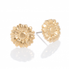 SALE Danon Pewter jewellery: Shiny Gold Sunflower  stud Earrings (15mm) (DS88)
