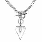 * Fabulous Danon Jewellery: Rolo Style Double Chain Necklace with Signature Danon Heart