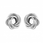 Statement Fashion Jewellery: Chunky Knotted Circles Stud Earrings (2.3cm) (YK123)