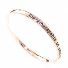 "GIFT BOXED ""You Are Capable Of Amazing Things"" Rose Gold Quote Bangle"