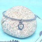SALE Fashion Jewellery: Crystal Heart Bangle (S73)