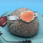 SALE Fashion Jewellery: Statement Bangle with Orange Stone Effect (S83)