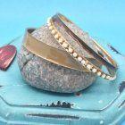SALE Fashion Jewellery: Earth Tone Bangle Set (S86)