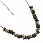 Rue B Classic Fashion Jewellery: Multi Tone Bead Necklace (M377)a