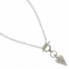 * Danon Jewellery: Simple Chain Necklace with Triple Swarovski Heart Pendant