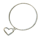 * NL: Danon Jewellery: Bangle with Adorable Heart Outline Charm