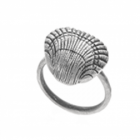 SALE Danon Jewellery:  Quirky Pewter Ring with Large Scallop Design (DS18)