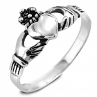 Celtic Collection: Sterling Silver Traditional Claddagh Design Ring
