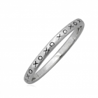 Sterling Silver Jewellery: Simple XOXO Design Stacking Ring