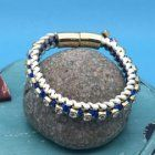 SALE Fashion Jewellery: Magnetic Crystal and Fabric Bracelet (S67)