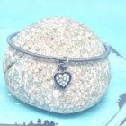 SALE Fashion Jewellery: Crystal Heart Bangle (S73)