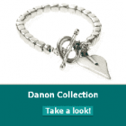 Danon jewellery has Danon necklace, Danon  earrings