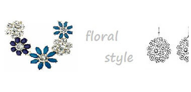 fashion jewellery york, floral necklace earrings