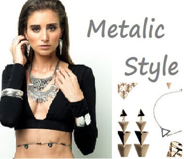silver and gold statement fashion jewellery, necklace and earrings