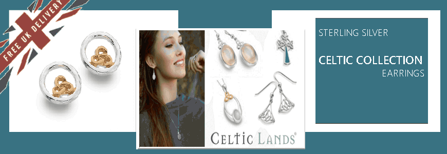 Celtic Earrings - Sterling Silver
