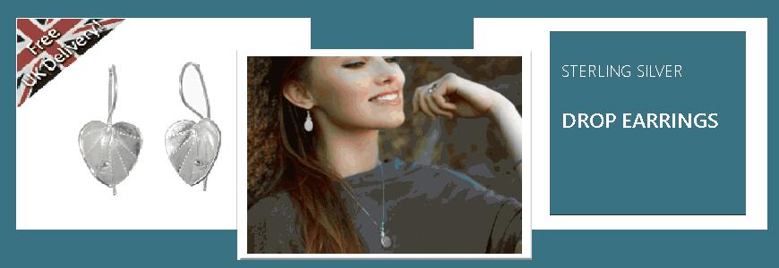 Drop Earrings - Sterling Silver