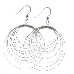 54-706-11228 Sterling Silver Round Wire Drops