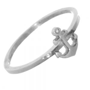 Thin Sterling Silver Anchor Ring