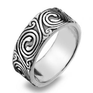 Sterling Silver Celtic Spiral Motif Ring