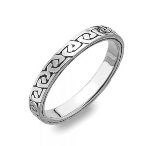 Celtic Collection: Thin Sterling Silver Celtic Ring