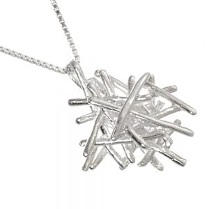 Sterling Silver stick Cluster Pendant